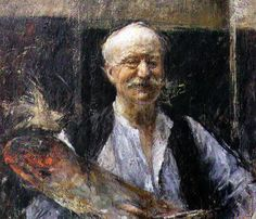 PORTRAITS OF PAINTERS: Antonio Mancini - Selfie