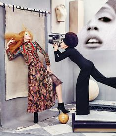 Pat & Anna Cleveland Front 'The Art of Fashion' By Ruven Afanador For Neiman…