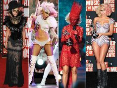 Lady Gaga showcasing shock style born of the 80's PUNK scene hitting hard in the 90's as CLUB KIDS rule the nightlife now eagerly expected of our iconic divas