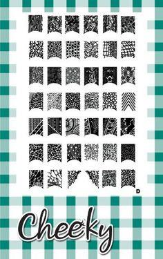 Amazon.com : New Design Jumbo Nail Art Image Plate (D) of 42 Full Nailart Designs by Cheeky® : Nail Art Equipment : Beauty