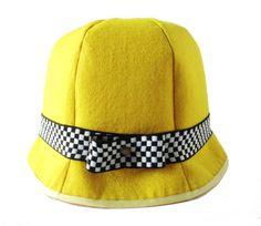 Yellow, flared, felt hat / Sarı, kloş, keçe şapka www.gigidukkan.com