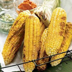 on the Cob with Flavored Butters // Coat corn with homemade chipotle ...
