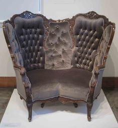 vintage tufted back ballon seat chair - Google Search