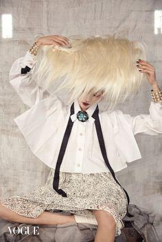 Korean Fantasy: Soo Joo Park by Koo Bohn Chang for Vogue Korea January 2016 - Chanel Resort 2016