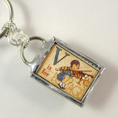 V is for Violin Keychain by XOHandworks $20