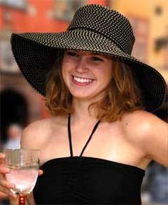 """The Del Mar Sun Hat has a 5"""" Brim for generous sun protection. It's the perfect accessory for a day at the horse races or to add some oomph to any outfit. There is contrasting tan stitching that give"""