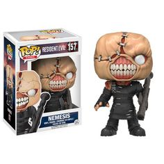 Resident Evil The Nemesis Pop! Vinyl Figure:The classic video game franchise Resident Evil is joining the Pop! Packaged in a window display box, the Resident Evil The Nemesis Pop! Vinyl Figure measures approximately 3 tall. Figurines D'action, Pop Figurine, Figurines Funko Pop, Funko Figures, Toy Pop, Pop Toys, Pop Vinyl Figures, Fallout, Resident Evil Nemesis