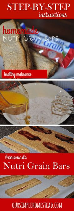 Homemade Nutri Grain Bars - These homemade Nutri Grain bars are a healthy version of the popular cereal bars my family loves.
