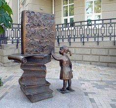 Book statue in Taganrog, Russia re-pinned by: http://sunnydaypublishing.com/books/