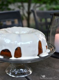 Blueberry Cake with Sour Cream Icing www.asouthern-soul.blogspot.com