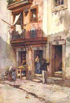 Watercolor Landscape, Landscape Paintings, Watercolor Art, Anne Of Green Gables, 2d Art, Gustav Klimt, Ancient Civilizations, Art Forms, Art Sketches