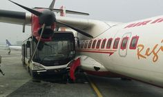 Bus carrying cabin crew crashes into plane after driver fell asleep