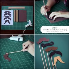 DIY mustache props for photos (or mustache & bow tie baby shower)