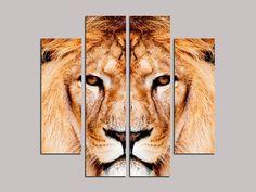 """Peinture à l'huile """"tête de lion / Oil painting """"lion head"""""""