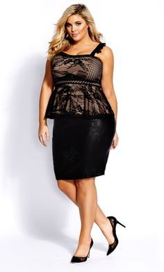 Be spotted in the Laced Love Top. Key Features Include: - Adjustable shoulder straps with feature lace ruffles - Soft sweetheart neckline with satin trim binding - Lace & satin trim binded waistband - Sheer lace overlay on contrast lining - Expose Lace Ruffle, Ruffles, Lace Overlay, Plus Size Women, Black Tops, Peplum Dress, Zip Ups, Satin, Formal Dresses