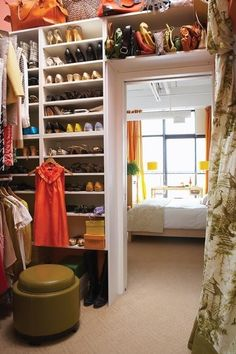 Use the space over the closet door ~ via a life's design.. I want this closet