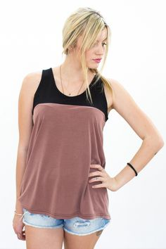 Sommerliches Tanktop, Schwarz und Rotbraun / summerly top, black and redbrown by Shoko via DaWanda.com