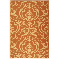 Safavieh Indoor/ Outdoor Bimini Terracotta/ Natural Rug (9' x 12') - Overstock™ Shopping - Great Deals on Safavieh 7x9 - 10x14 Rugs