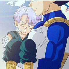 Vegeta carrying Trunks. Such a good dad