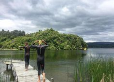 Cameron Paul in Rocket Science Sports wetsuit afternoon #swim