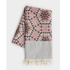 Quince Living - House of Rym Heavenly Honeycomb Rose Blanket Textiles, Aztec Blanket, Pink Blanket, Beach Blanket, Br House, Genius Ideas, Tapis Design, Home And Deco, Looks Cool