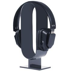 DIY Headphone Stand - Build a cool headphone hanger to get your over-the-ear headphones off your desk and keep them safe when you're not using them. Well we have some DIY Headphone Stand Ideas for you. Diy Headphone Stand, Headphone Holder, Cheap Headphones, Best Headphones, Headset Holder, Pop Display, Display Stands, Diy Headboards, Headboard Ideas