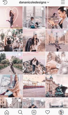 Inspiration for Instagram feed themes. Find a preset that suits your brand and matches the aesthetic you are after! | Blush | Soft | Pastel | Dusty | Pictures #instagram