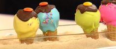 Cake Pops de naranja y chocolate