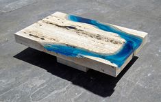 Marble and Resin Tables Incorporate the Soothing Depth of a Blue Lagoon - My Modern Met