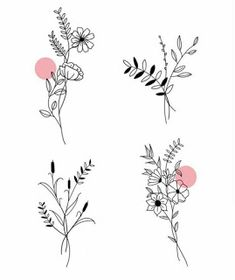 Tattoo Trends To Covet In 2019 - Spat Starctic Mini Tattoos, Cute Tattoos, Flower Tattoos, Small Tattoos, Male Back Tattoos, Tatoos, Flower Sketches, Floral Drawing, Flower Doodles