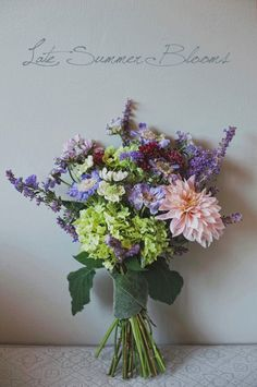 wild flower bouquet #scabiosa #dahlia #hydrangea