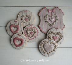 Fancy Cookies, Vintage Cookies, Heart Cookies, Valentine Cookies, Iced Cookies, Cute Cookies, Cupcake Cookies, Sugar Cookies, Saint Valentine