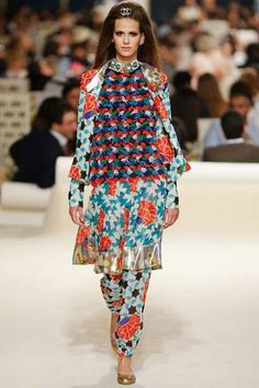 Chanel Resort 2015 Collection Slideshow on Style.com.   ~                       Love the patterns... Just not together.