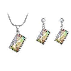 Austrian Crystal Set - Letter (Luminous Green) Fine Jewelry NHKSE30112--US$11.36