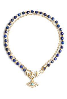 Pave Diamond Evil Eye Friendship Bracelet by Astley Clarke