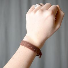 """A fresh take on an old favorite... the leather friendship bracelet tutorial; from Melissa Esplin's blog """"ISLY: I still Love You""""."""