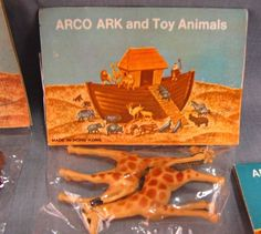 Lot of 14 Arco Ark Toy Animals NEW Old Stock Pairs Sealed Bags Noah's Vintage #Arco