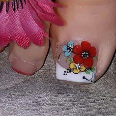 Hot Nails, Flower Nails, Toe Nail Art, Pedicure, Nail Art Designs, Make Up, Tattoos, Beauty, Margarita