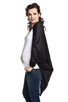 Dámsky tehotenský kardigán čiernej farby