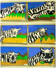 4th Grade African Zebras. From the colors of my day blog.
