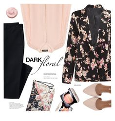 """""""In Bloom: Dark Florals"""" by meyli-meyli ❤ liked on Polyvore featuring Canvas by Lands' End, White House Black Market, Chanel and darkflorals"""