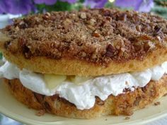 From Mennonite Girls Can Cook  Apple and Cream Filled Cinnamon Cream Cake...yummmm!
