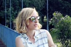Lust for Luster: MODERN FASHION 2 TONE MIRRORED LENS AVIATOR SUNGLASSES A209