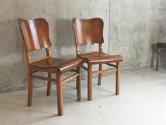 Mid Century Vintage British Dining Chair in Oak 1970s