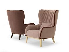 Bergere upholstered armchair with armrests BERGÈRE by DE PADOVA | design Patricia Urquiola