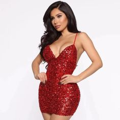 Sexy V-Neck Sequin Bodycon Mini Dress #Bodycondress #spring2021 #Womenoutfits #fashion #likeforlike #comment #followforfollow Mini Dresses For Women, Mini Club Dresses, Sexy Dresses, Bodycon Outfits, Bodycon Dress, Spaghetti Strap Dresses, Celebrity Dresses, Sequin Dress, Dress Collection