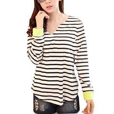 Partiss Womens Stripe Sweatshirt, M, Black Partiss http://www.amazon.com/dp/B00U8TSXIE/ref=cm_sw_r_pi_dp_Lz79ub1EBKHQ6