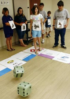 Lifesize Monopoly at Brownsburg Public Library     The next time you play a game using a game board, do something totally different, try d...