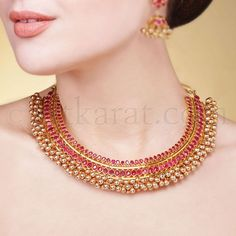 rubby short , long neckless jewellery images - Results For Yahoo Image Search Results