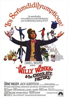 Willy Wonka and the Chocolate Factory Movie Poster It measures 27 x 40 inches or 69 x 101 cms. Willy Wonka the Chocolate Factory is a 1971 musical film adaptation of the 1964 novel Charlie and the Chocolate Factory by Roald Dahl, directed by . Old Movies, Vintage Movies, Great Movies, Vintage Posters, Old School Movies, Awesome Movies, Popular Movies, Latest Movies, Classic Movie Posters